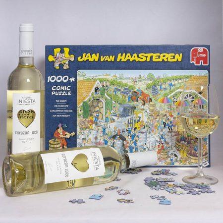 Wijngeschenk Puzzel De Wijngaard